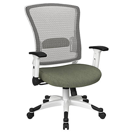 Office Star™ Space Seating Mesh Mid-Back Chair, Sage/White