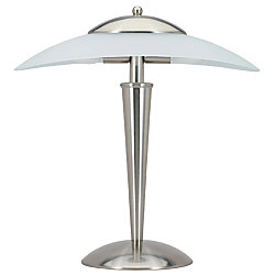 Touch Activated Desk Lamp Brushed Nickel Frosted White