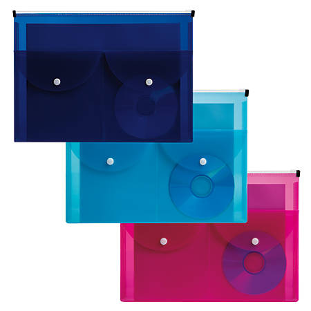 "Office Depot® Brand Zippered Bag, 8 1/2"" x 11"", Assorted Colors"
