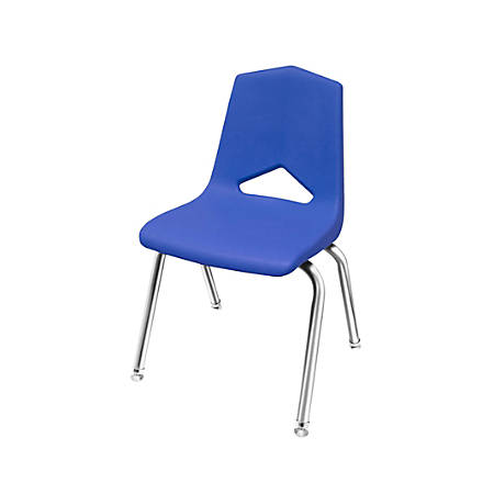 "Marco Group™ Apex™ Stacking Chairs, 31 1/2""H, Blue/Chrome, Pack Of 4"