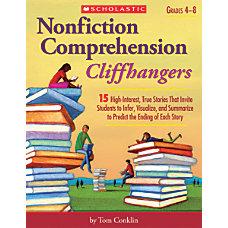 Scholastic Nonfiction Comprehension Cliffhangers