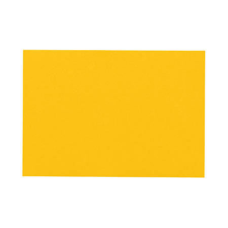 "LUX Flat Cards, A9, 5 1/2"" x 8 1/2"", Sunflower Yellow, Pack Of 50"