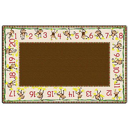 """Flagship Carpets Cushy Tushy Monkeys Carpet, Rectangle, 7' 6"""" x 12', Multicolor"""
