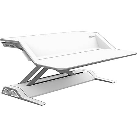 Fellowes® Lotus™ Adjustable Sit-Stand Workstation, White