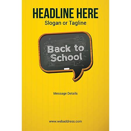 Custom Poster, Back To School, Vertical