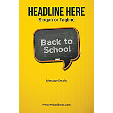 Custom Poster Back To School Vertical