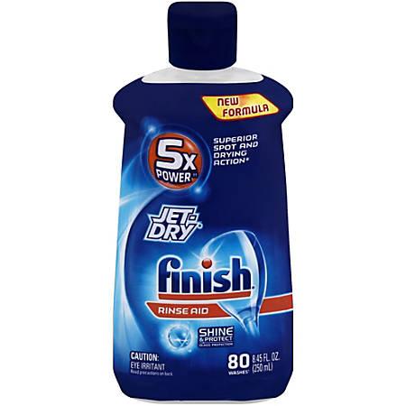 Finish Jet-Dry Rinse Aid - 8.45 oz (0.53 lb) - 1 Each - Blue