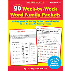 Scholastic 20 Week By Week Word
