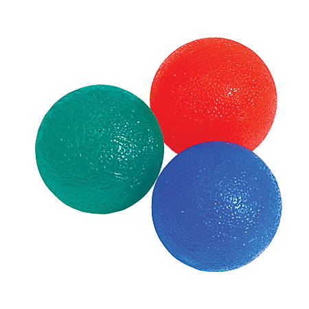 Black Mountain Products Hand Therapy Ball Set, Multicolor, Set of 3