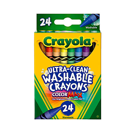 Crayola® Washable Crayons, Assorted Colors, Pack Of 24