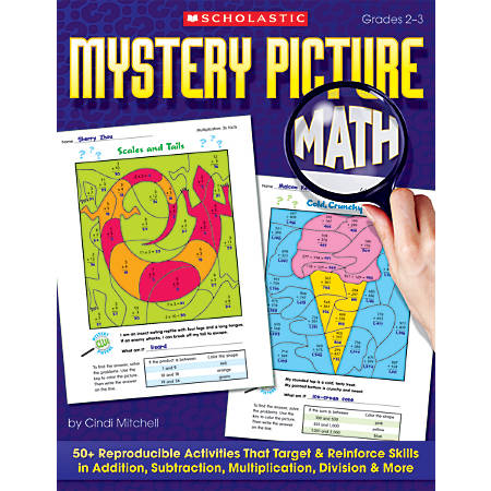 Scholastic Mystery Picture Math, 64 Pages (32 Sheets)