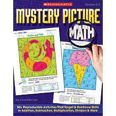 Scholastic Mystery Picture Math 64 Pages