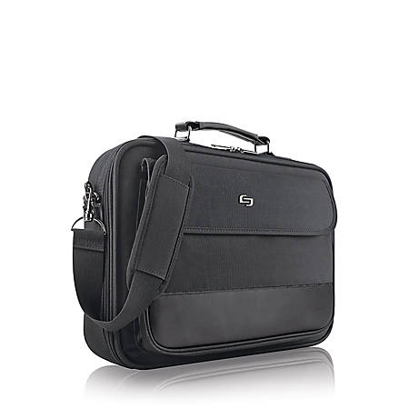 """Solo Classic Briefcase For 15.6"""" Laptops, Black"""