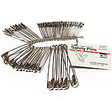 CLI Nickel Plated Steel Safety Pins