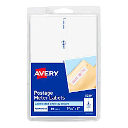 Avery Postage Meter Labels For Personal