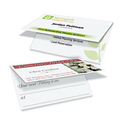 avery folded two side business cards for laserinkjet printers 100pk