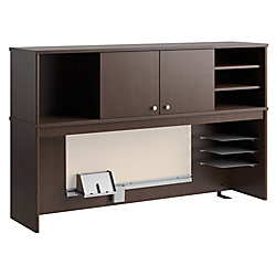 "Bush Furniture Envoy Hutch, 58""W, Mocha Cherry, Standard Delivery"