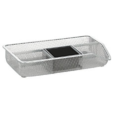 OfficeMax Mesh Drawer Organizer Silver