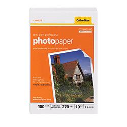 "OfficeMax Professional Photo Paper, Semi-Gloss, 100 sheets, 4"" x 6"""