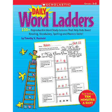 Scholastic Daily Word Ladders: Grades 1-2, 176 Pages (88 Sheets)
