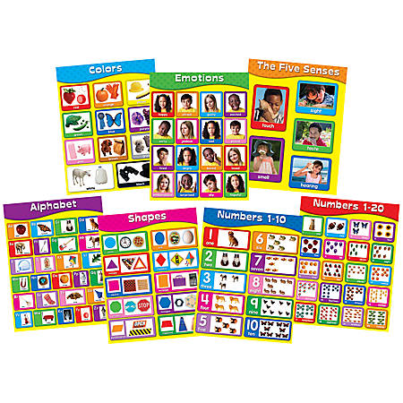Carson-Dellosa Chartlet Set, Early Learning