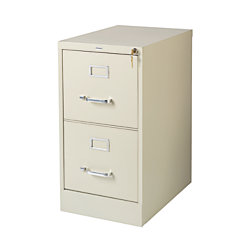 Officemax 22 Deep 2 Drawer Vertical File Cabinet Putty
