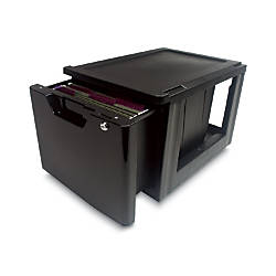 Iris Lockable Storage Drawer Black
