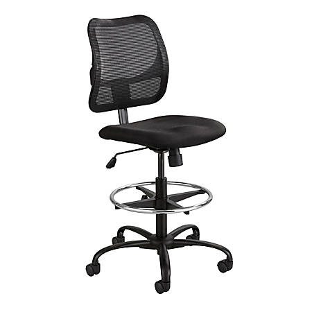 "Safco® Vue™ Mesh Extended Height Chair, 49 1/2""H x 25""W x 17 1/2""D, Black"