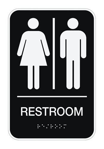 Cosco ADA MensWomensUnisex Restroom Sign 6 x 9 Black by Office Depot &  OfficeMax