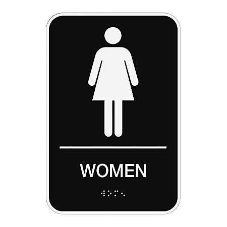 "Cosco® ADA Men/Women Combo Pack Restroom Signs, 6"" x 9"", Pack Of 2"