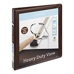 inplace heavy duty view binders with ez comfort d ring 1 brown by