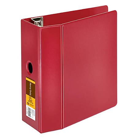 "[IN]PLACE® Heavy-Duty Reference Binder, 5"" Rings, 100% Recycled, Dark Red"