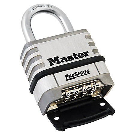 "Master Lock ProSeries Stainless Steel Combination Lock, 5/16"", Stainless Steel"