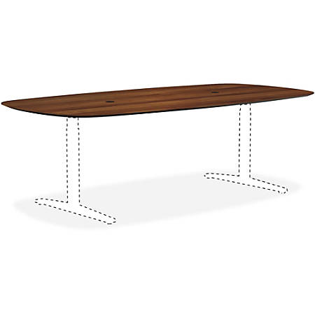 Lorell® Knife Edge Rectangular Conference Table Top, 8'W, Walnut