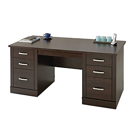 Superb Sauder Office Port Executive Desk Dark Alder Item 1366480 Home Interior And Landscaping Ponolsignezvosmurscom
