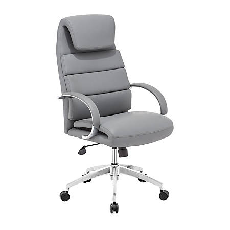 "Zuo® Modern Lider Comfort Mid-Back Chair, 44 1/2""H x 27 1/2""W x 27 1/2""D, Gray/Silver"