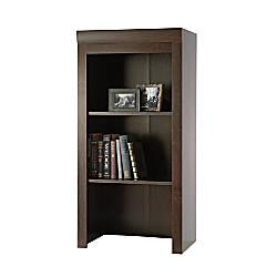 Sauder Office Port Collection Library Hutch Dark Alder By