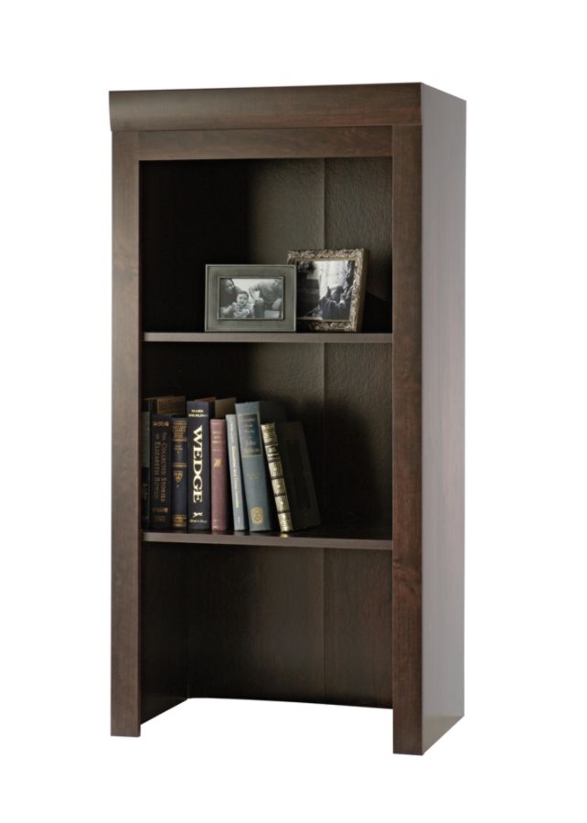 Beau Sauder Office Port Collection Library Hutch Dark Alder By Office Depot U0026  OfficeMax