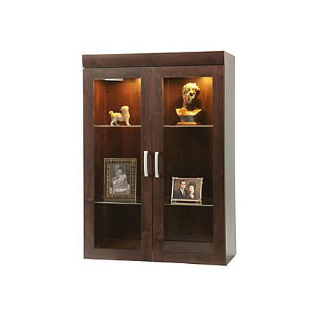 Sauder® Office Port Collection, Display Hutch, Dark Alder
