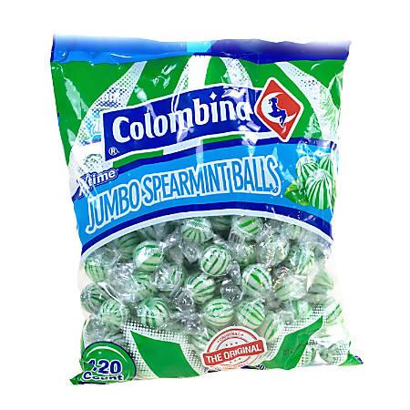 Colombina Jumbo Mint Balls, Spearmint, Approximately 120 Pieces, 3-Lb Bag