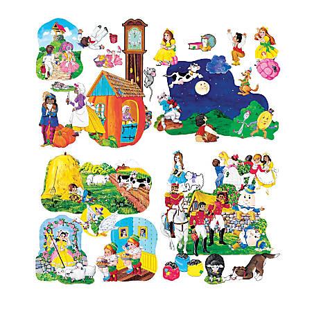 Little Folk Visuals Nursery Rhymes Precut Flannel Board Sets, Multicolor, Grades Pre-K - 5, Pack Of 4