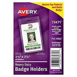 Avery Heavy Duty Badge Holder 2