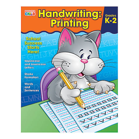 Carson-Dellosa Brighter Child Handwriting Workbook: Printing, Ages 5 - 7