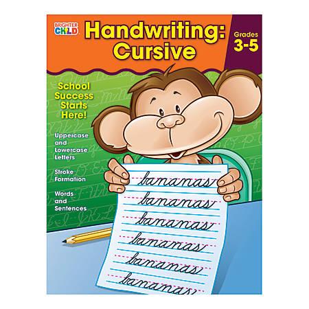 Carson-Dellosa Brighter Child Handwriting Workbook: Cursive, Ages 8 - 11