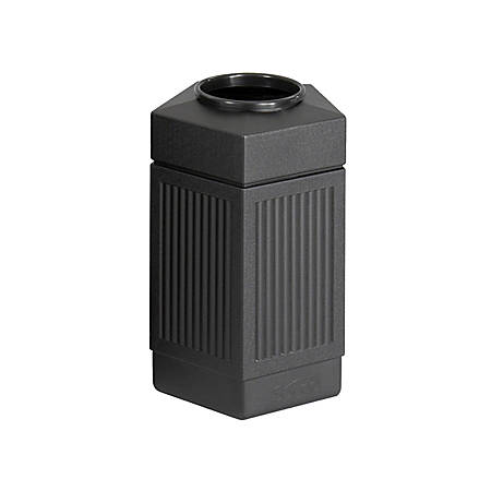 Safco® Canmeleon™ Indoor/Outdoor Pentagon Receptacle, 30 Gallons, Black