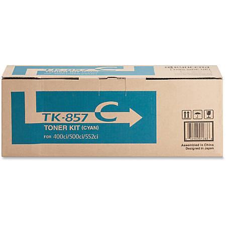 Kyocera TK 857C - Cyan - original - toner cartridge - for TASKalfa 400ci, 500ci, 552ci