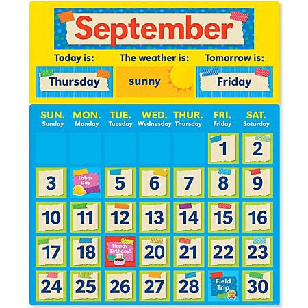 Scholastic Teacher's Friend Tape It Up! Calendar Bulletin Board Set, Pre-K To Grade 6
