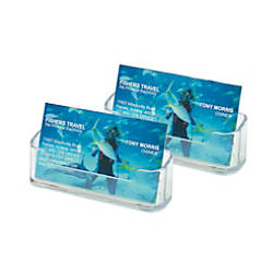 deflecto Desktop Business Card Holders Plastic