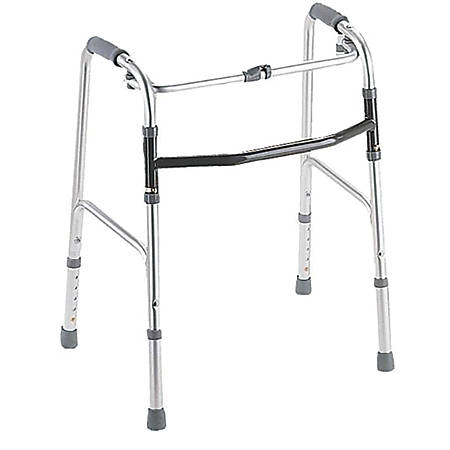 Guardian Youth 1-Button Folding Walker, Chrome