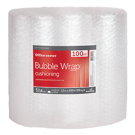 "Office Depot® Large Bubble Packing Material, 12"" x 100'"